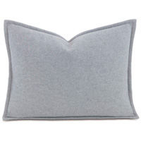 Brera Flannel Boudoir Sham in Gray