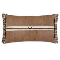 Aiden Faux Leather Buckle Decorative Pillow
