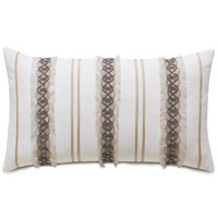 Naomi Border Accent Pillow in White