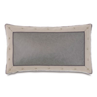 Safford Faux Leather Decorative Pillow