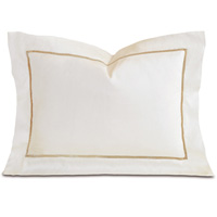 Linea Velvet Ribbon Boudoir In Ivory & Sable