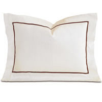 Linea Velvet Ribbon Boudoir In Ivory & Walnut