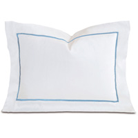 Linea Velvet Ribbon Boudoir In White & Azure