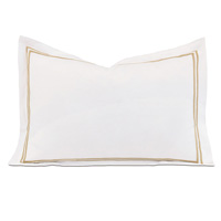 Enzo White/Antique Boudoir Sham