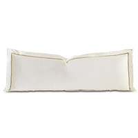 Linea Velvet Ribbon Grand Sham In Ivory & Aloe