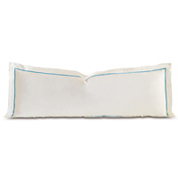 Linea Velvet Ribbon Grand Sham In Ivory & Azure