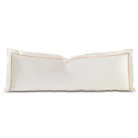 Linea Velvet Ribbon Grand Sham In Ivory & Nectar