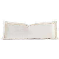 Linea Velvet Ribbon Grand Sham In Ivory & Sable