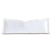 Linea Velvet Ribbon Grand Sham In White & White