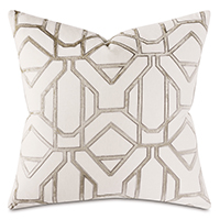 Clara Velvet Decorative Pillow In Champagne