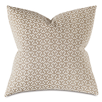Sina Woven Decorative Pillow In Sienna