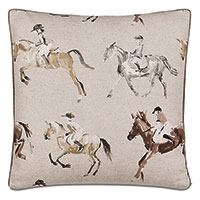 Jockey Equestrian Decorative Pillow In Khaki