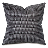 Pebble Onyx Decorative Pillow Black