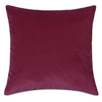 Plush Velvet Decorative Pillow In Raspberry