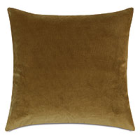 Plush Velvet Decorative Pillow In Citrine