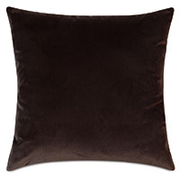 Uma Velvet Decorative Pillow In Brown