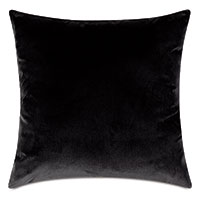 Uma Velvet Decorative Pillow in Charcoal