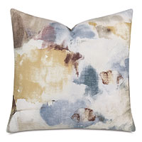 Glory Watercolor Decorative Pillow in Spa