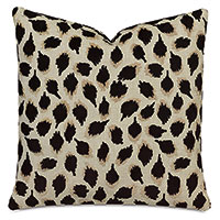 Ocelot Decorative Pillow In Black