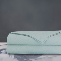 HONEYDEW MATELASSE COVERLET IN MINT