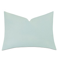 HONEYDEW MATELASSE QUEEN SHAM IN MINT