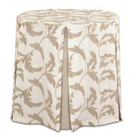 Boyer Natural Skirted Table Cloth