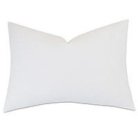 HONEYDEW MATELASSE STANDARD SHAM IN WHITE