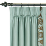 ANTHEMION OCEAN/BROWN CURTAIN PANEL
