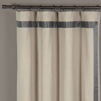 WITCOFF TAUPE CURTAIN PANEL LEFT (D