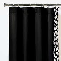 WITCOFF BLACK CURTAIN PANEL LEFT