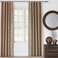 Breeze Sand Curtain Panel (Left)