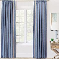 PALOMA WOVEN CURTAIN PANEL LEFT