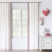 ESSEX WHITE CURTAIN PANEL RIGHT