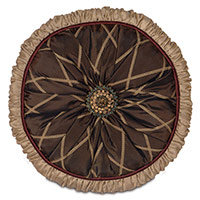 EMMIT COCOA ROUND TUFTED