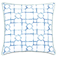 Castaway Loop Trim Decorative Pillow