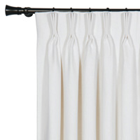 LEONARA WHITE CURTAIN PANEL