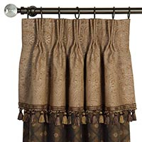 BIRKDALE CHOCOLATE CURTAIN PANEL