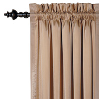 CHARMEUSE BRONZE/OVERLAY CURTAIN