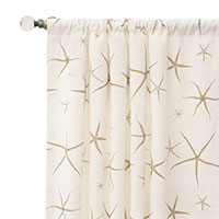 Tybee Natural Curtain Panel
