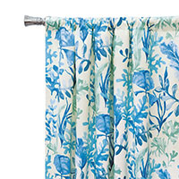Olympia Azure Curtain Panel