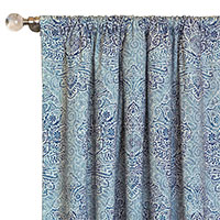 Martinique Sapphire Curtain Panel