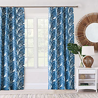 Malia Cobalt Curtain Panel