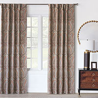 RUDY ROD POCKET CURTAIN PANEL IN EARTH TONE