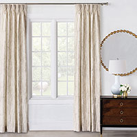 Halo Champagne Curtain Panel