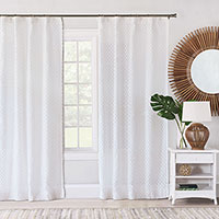LILLA WHITE CURTAIN PANEL