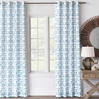 CASTAWAY LATTICE CURTAIN PANEL