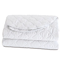 Viola White Coverlet