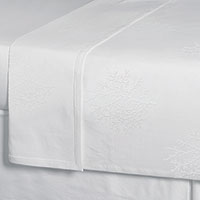Delray White Coverlet