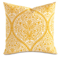 Adelle Percale Decorative Pillow in Saffron