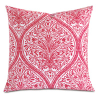 Adelle Percale Decorative Pillow in Sorbet